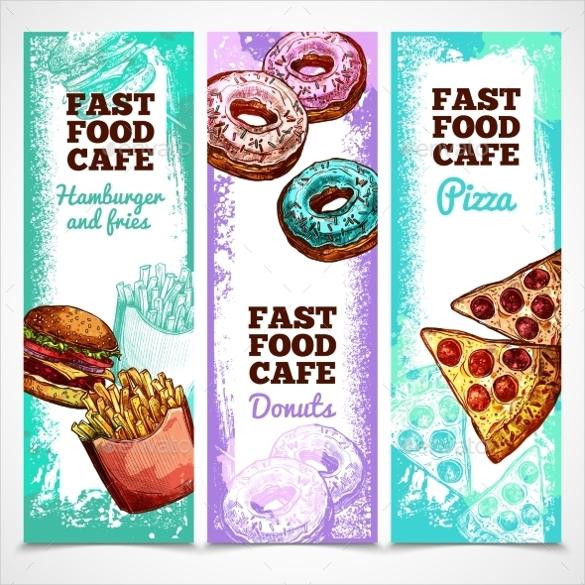 fast food vertical banner