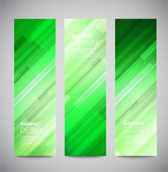 green vertical banner