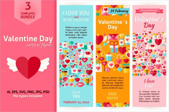 valentines day vertical banner