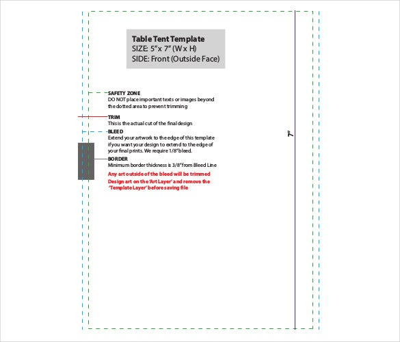Free Download Table Tent PDF Format Template  sc 1 st  Template.net : paper tent template - memphite.com