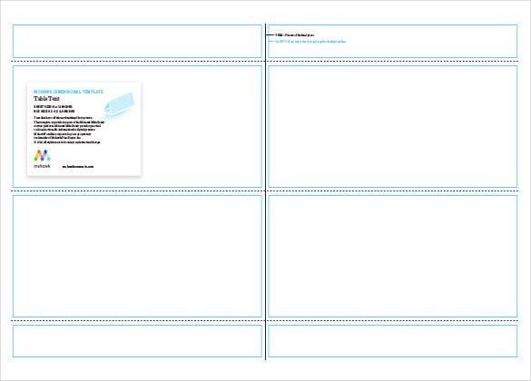 Blank Business Card Template Word 2013