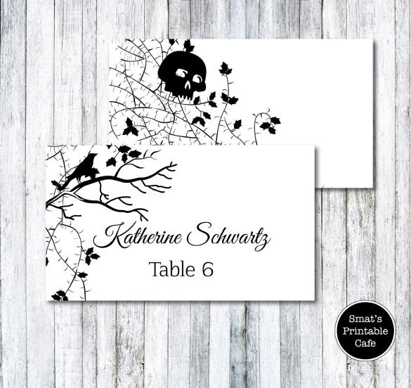halloween wedding table tent template