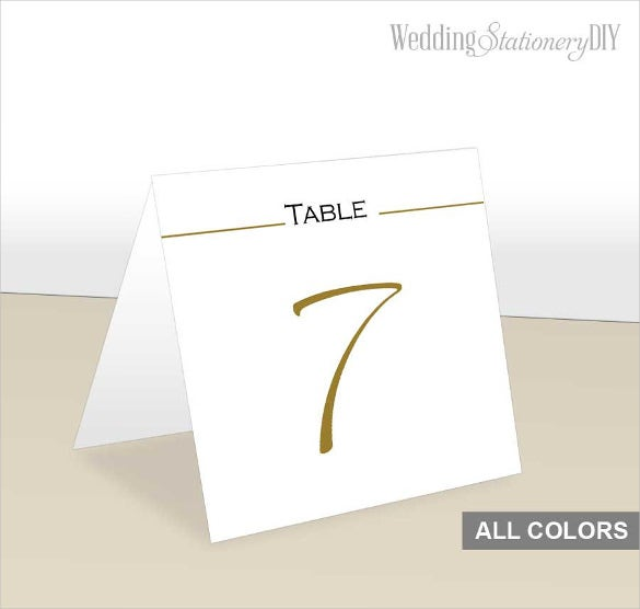 gold prinatable table tent template