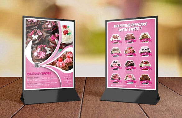 cupcake table tent template