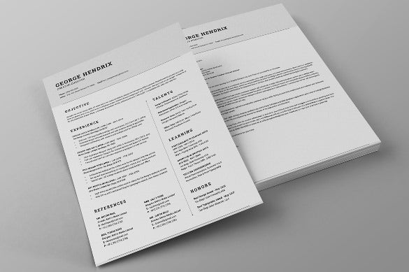 41+ One Page Resume Templates - Free Samples, Examples, & Formats Download!