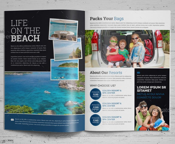 travel brochure catalog design template