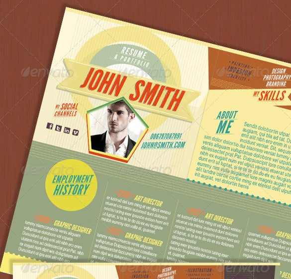 the indesign one page resume
