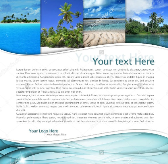 simple travel brochure for beach tourism