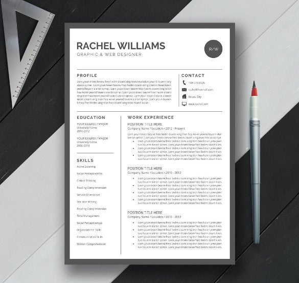 Elegant One Page CV Template