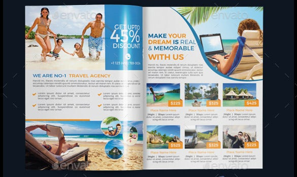 print ready travel agency brochure