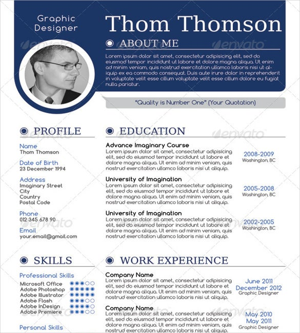 Superbe Modern One Page Resume
