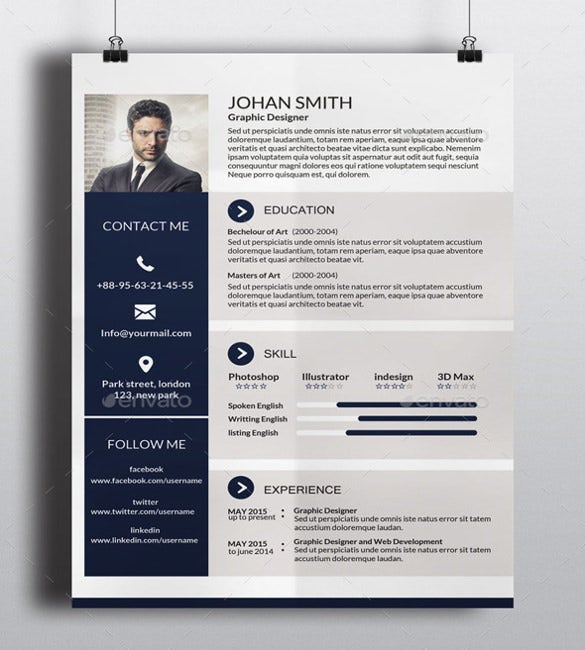 41+ One Page Resume Templates - Free Samples, Examples, & Formats