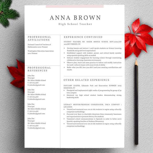 profesional resume template for word