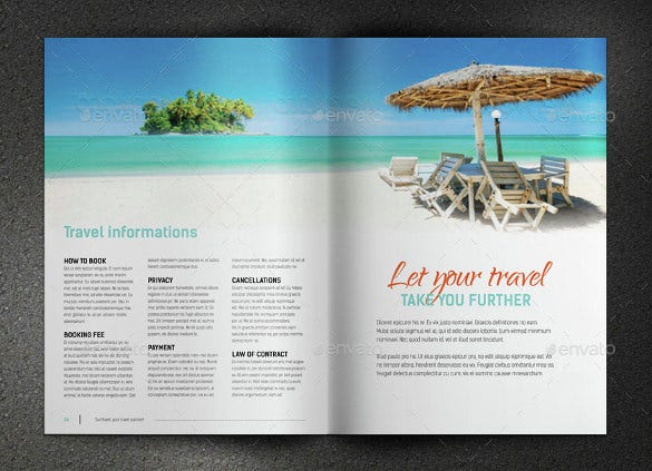 beach theme tourism brochure download