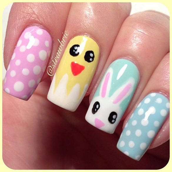 nail design of easter nail design