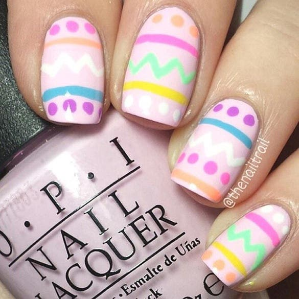 easter desing on the nails