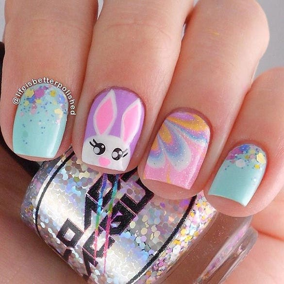easter design for short nails