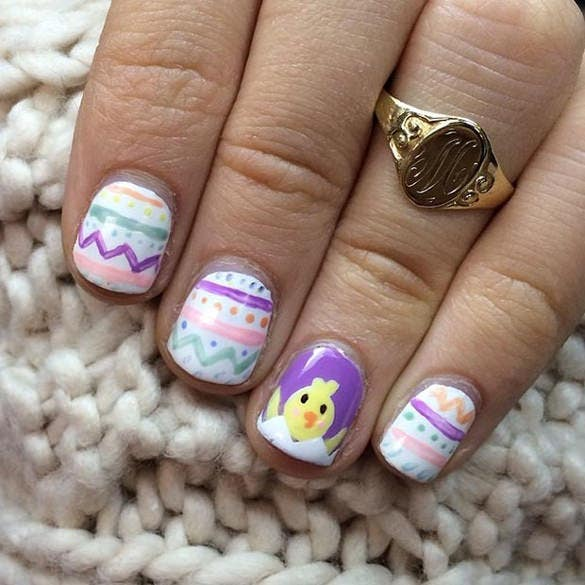 desing of easter accent for nail