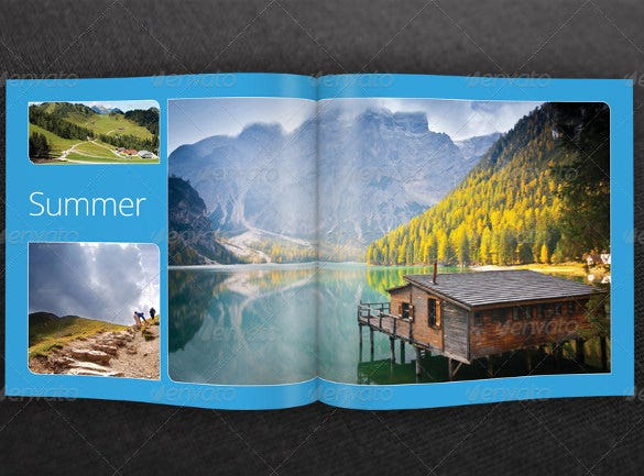 attrctive trvel brochure template easy download
