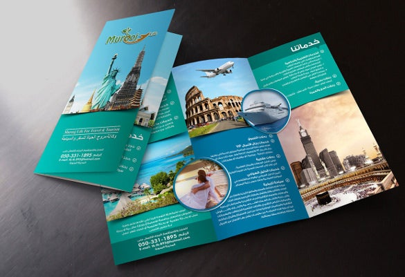 easy to edit tourism brochure template