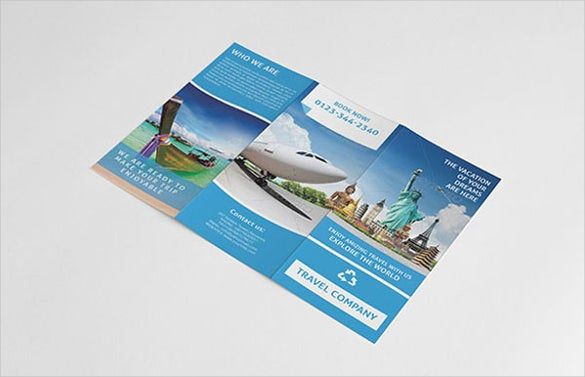 travel brochure template with newyork images