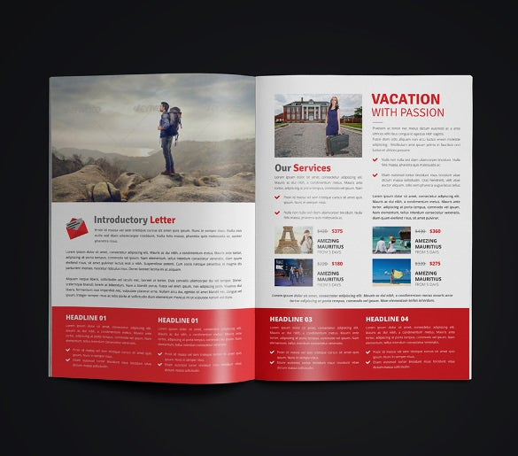 unique travel brochure template