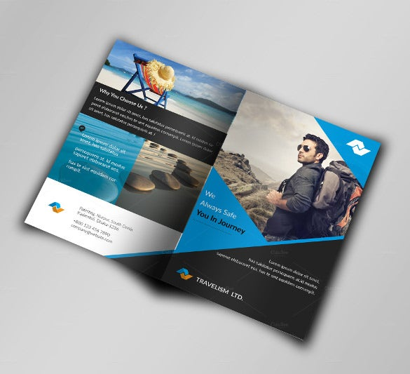 elegant travel brochure template