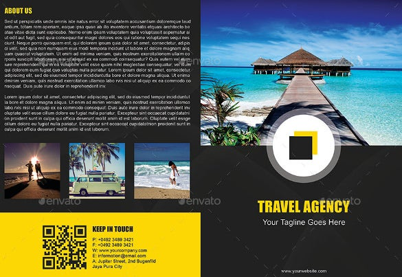 easy to edit travel brochure template