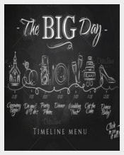 Wedding Timeline Template With Chalkboard