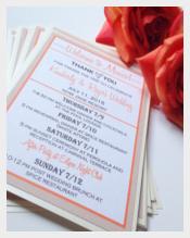 Professional Wedding Schedule