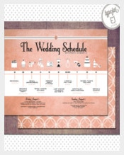 Vintage Wedding Schedule Template