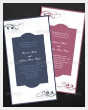 Elagant Wedding Card Template