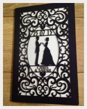 Laser Cut Wedding Card Design