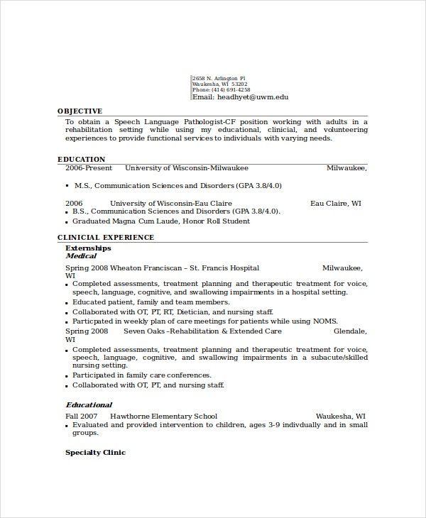 speech therapist assistant resume euthanasiaessays web