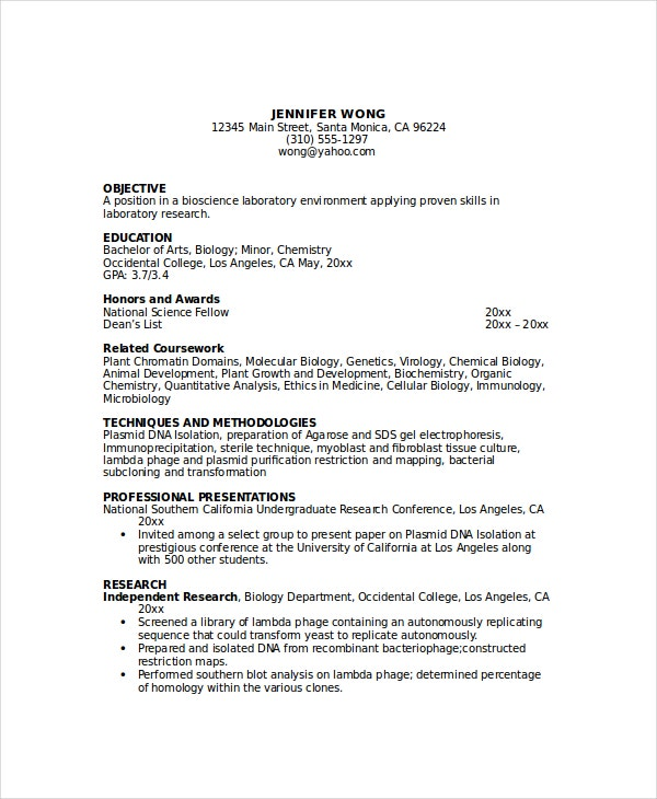 pathologist assistant resume