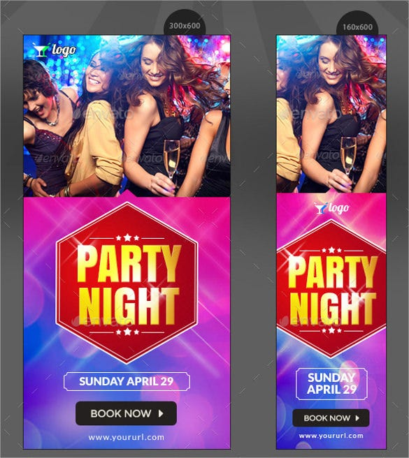 night club party banner