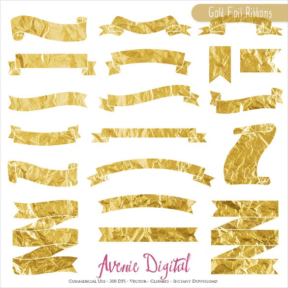 gold foil ribbon party banner