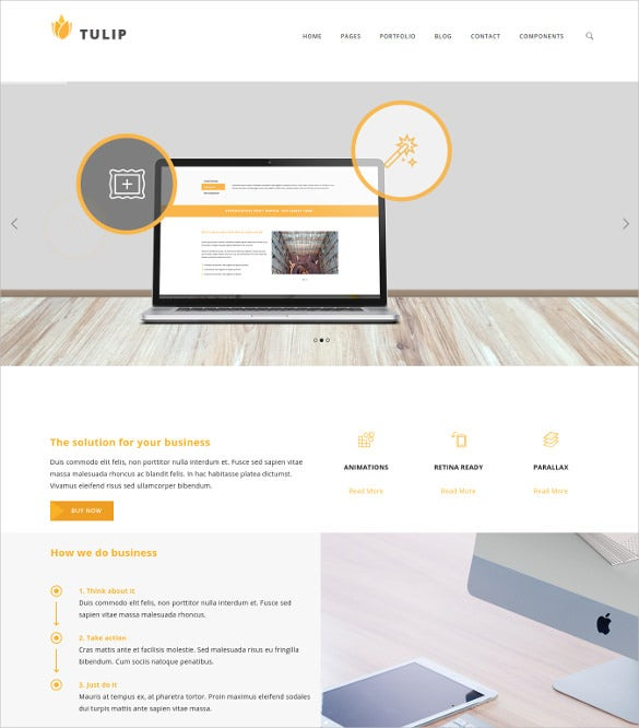 tulip responsive business wordpress theme