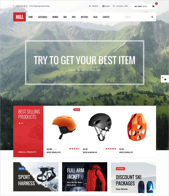 hill premium responsive woocommerce wordpress theme