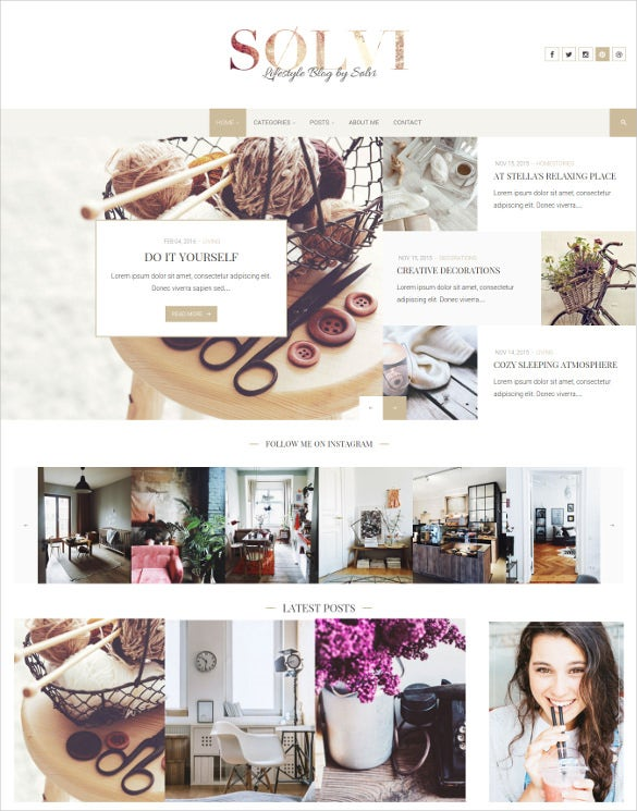 sølvi an elegant lifestyle wordpress blog theme