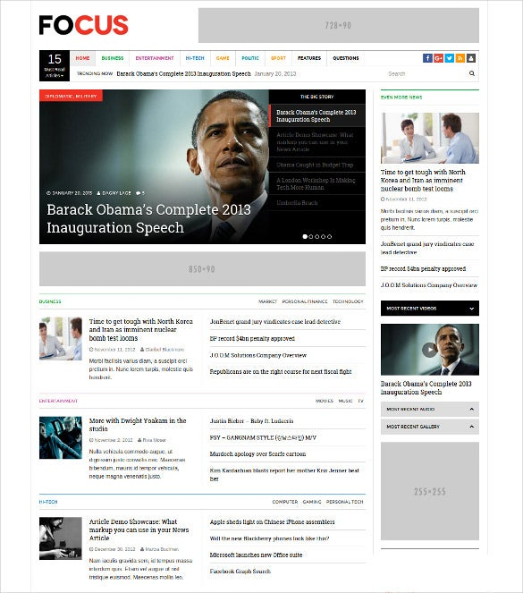 dw focus modern lightweight news magazine wordpress theme