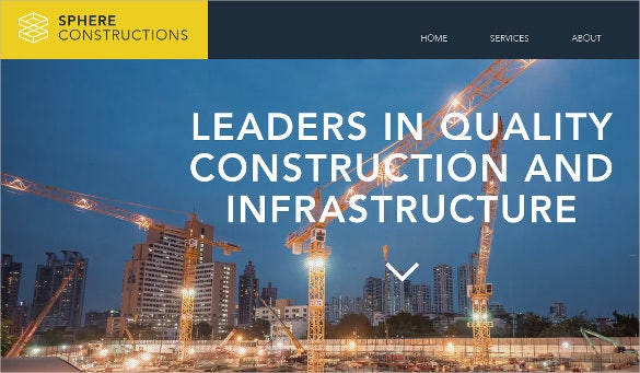 civil construction website template