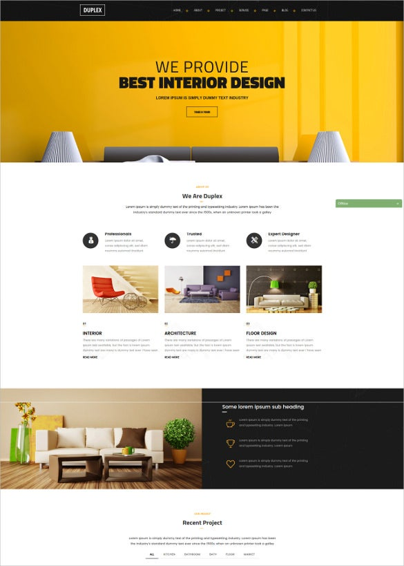 civil interior engineering website template