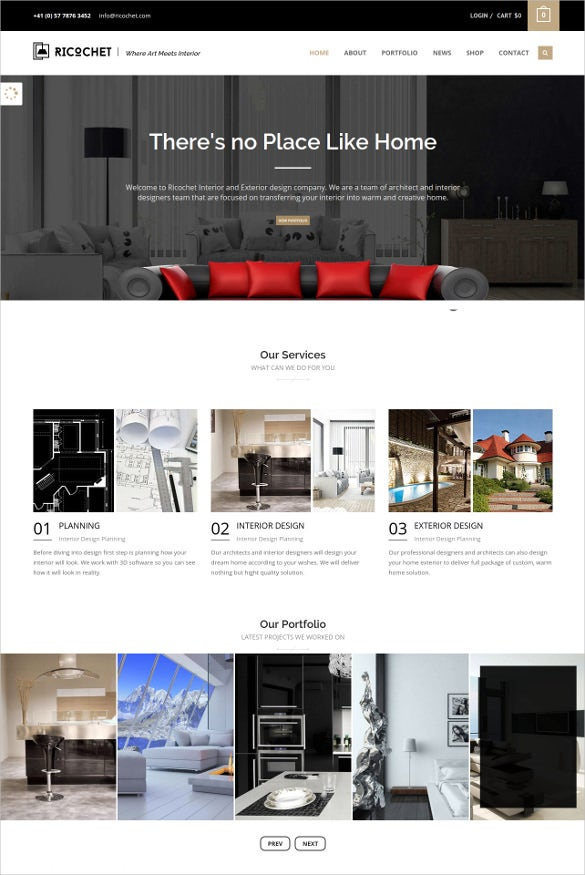 interior home engineering website template