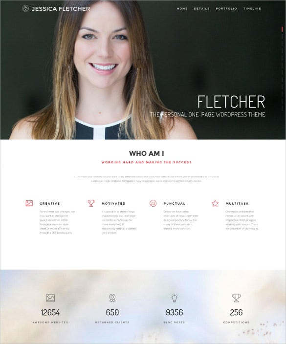 fletcher personal wordpress theme