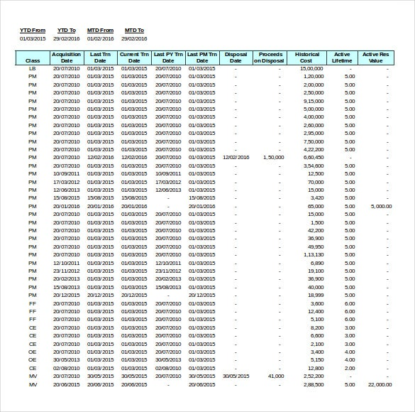 Asset Inventory Templates  Free Excel Pdf Documents Download