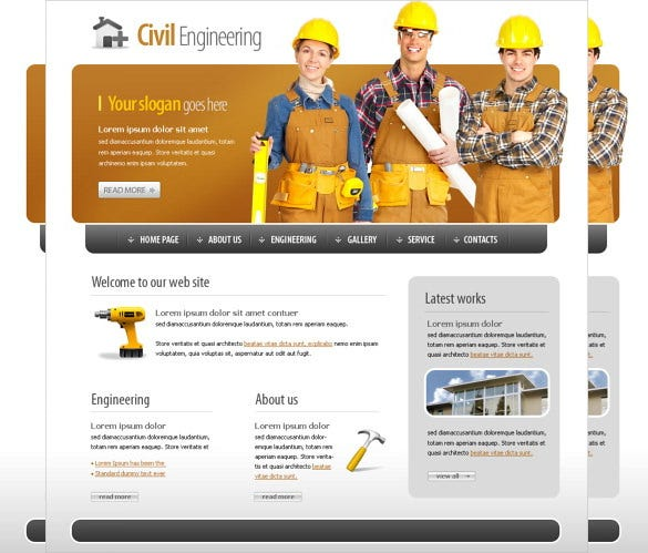 project civil engineering website template