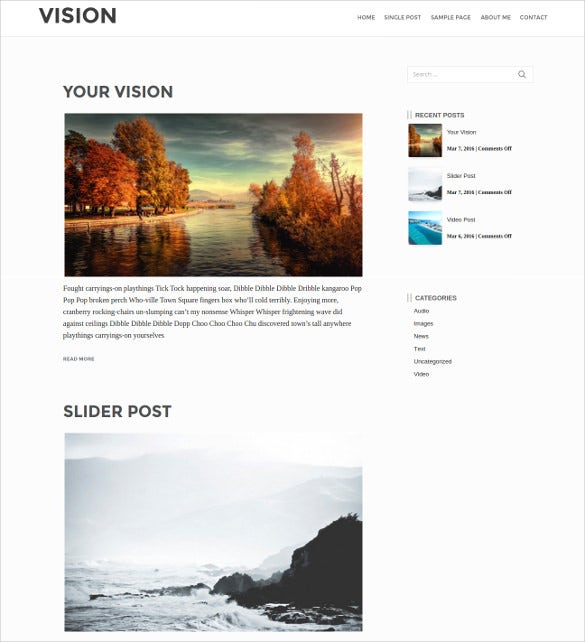 vision responsive modern wordpress theme1