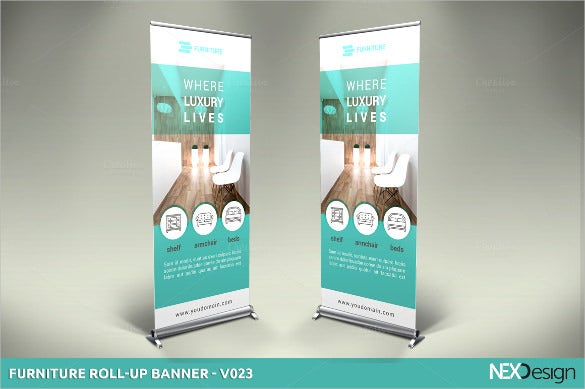 furniture rollup banner