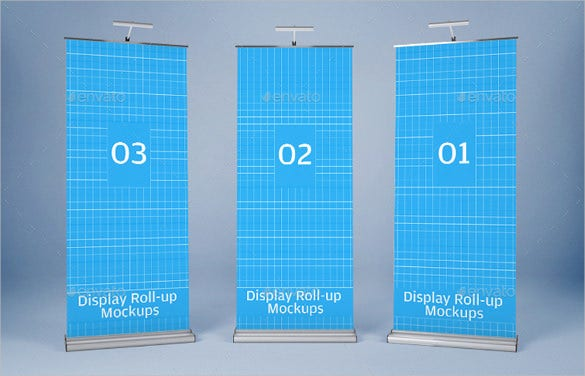 realistic rollup banner